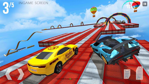 Mega Ramp Race - Extreme Car Racing New Games 2020 apkmind screenshots 3