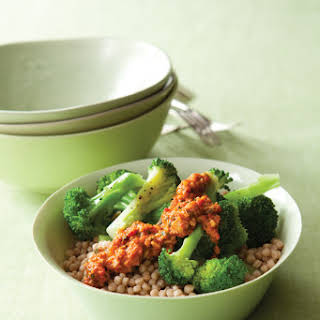 Israeli Couscous and Broccoli Bowl.