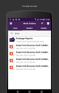 Work Folders Screenshot 2
