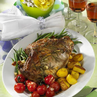 Leg of Lamb with Green Beans.