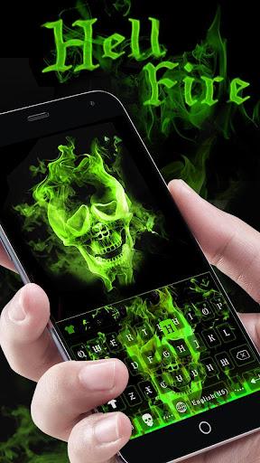 Hellfire Skull keyboard Uniqueness Theme Screenshot