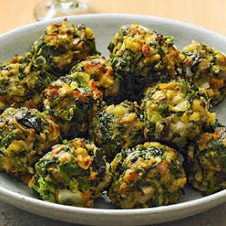 STOVE TOP Spinach Balls.