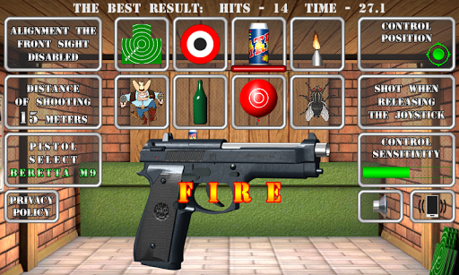 Pistol shooting at the target.  Weapon simulator apklade screenshots 1