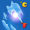 Celsius Fahrenheit Thermometer icon