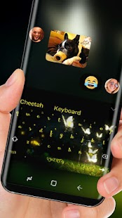 Firefly Keyboard Butterfly light Theme - náhled