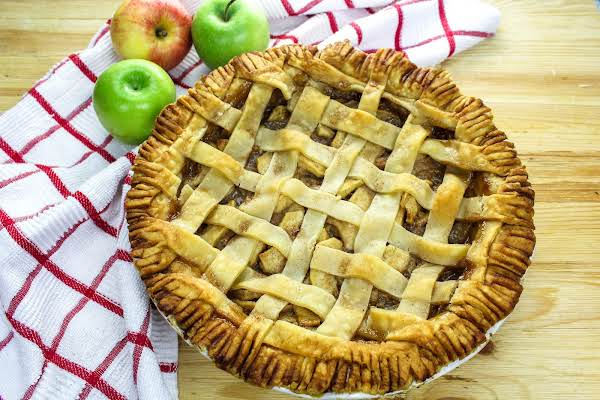 Always Perfect Apple Pie Ready To Be Sliced.