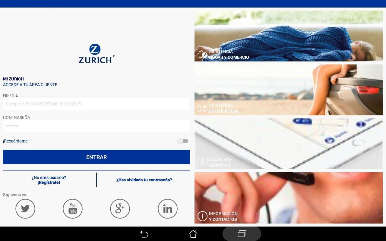 Zurich Seguros ES- screenshot