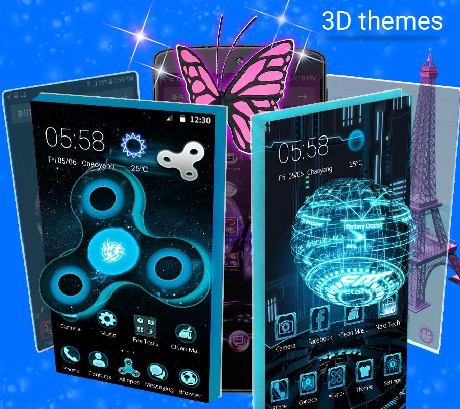 CM Launcher 3D -Free Theme & Live Wallpapers- screenshot