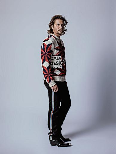 Luke Grimes in Calvin Klein 205w39nyc Sweater