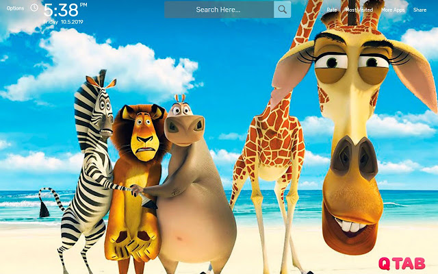 MADAGASCAR 4 Wallpapers HD Theme