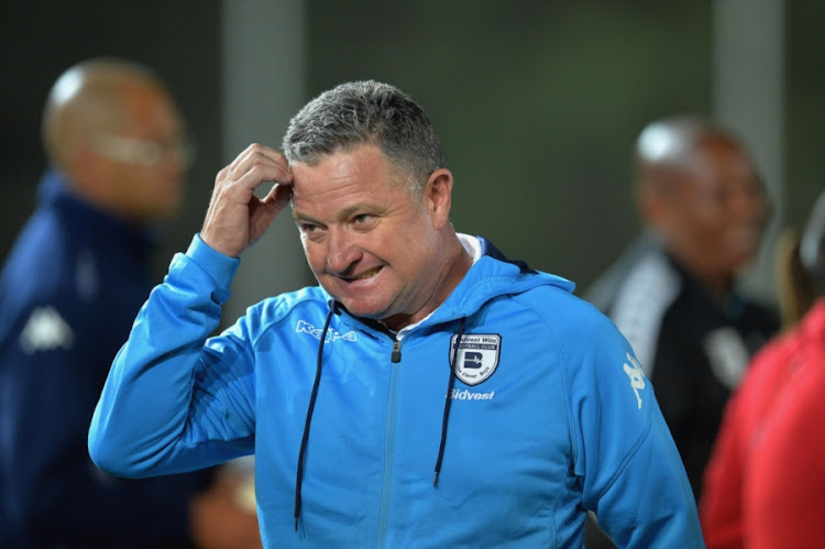 Bidvest Wits head coach Gavin Hunt reacts during the Absa Premiership match against Golden Arrows at Bidvest Stadium on September 13, 2017 in Johannesburg, South Africa.