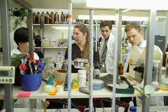 Photo: Vidû - Linda Ansone, LU ÌZZF Augðòu laboratorijas vadîtâja.