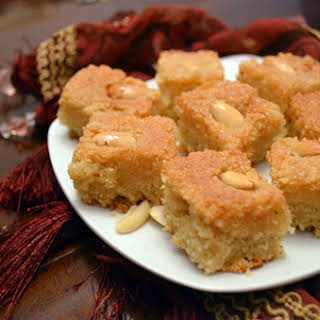 Vegan Basbousa (Semolina Cake).