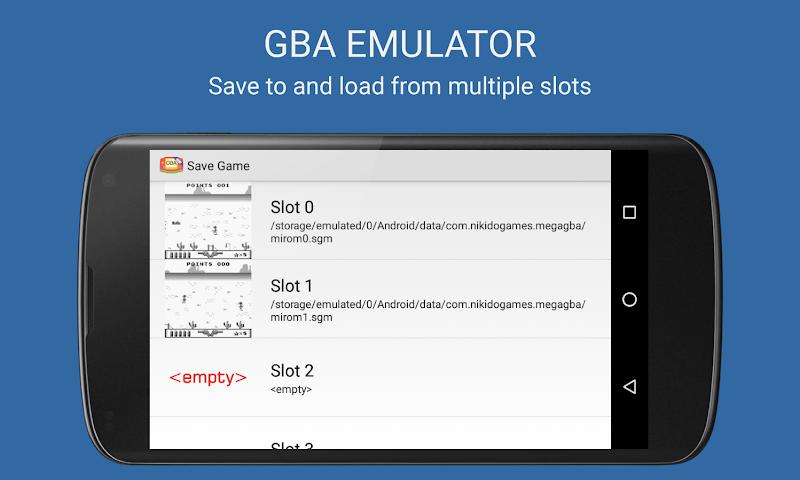 Скриншот MegaGBA (GBA Emulator)
