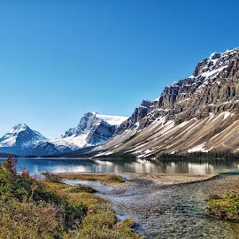 Bow Lake by Margie Troyer - Landscapes Mountains & Hills