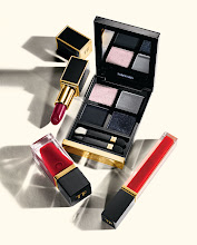 Photo: TOM FORD BEAUTY Wild ginger lip color. $48. Titanium smoke eye color quad. $78. Lost cherry ultra shine lip gloss. $45. Carnal red nail lacquer. $30. Beauty Level. 212 872 8775