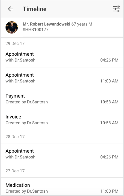DocEngage Patient Chart- screenshot