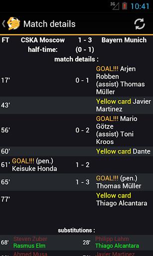 Livescore Soccer 1.3.8 screenshots 3
