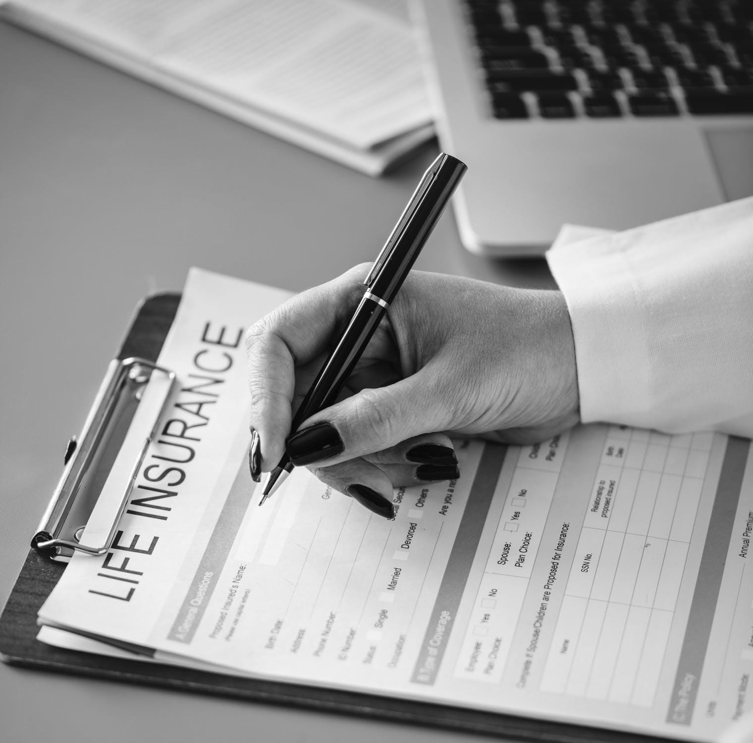 life insurance document