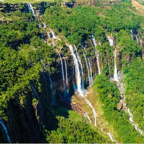 Seven sister waterfalls! by Shivaang Sharma - Novices Only Landscapes ( water, nature, cherrapunji, waterfall, meghalaya, india, landscape )