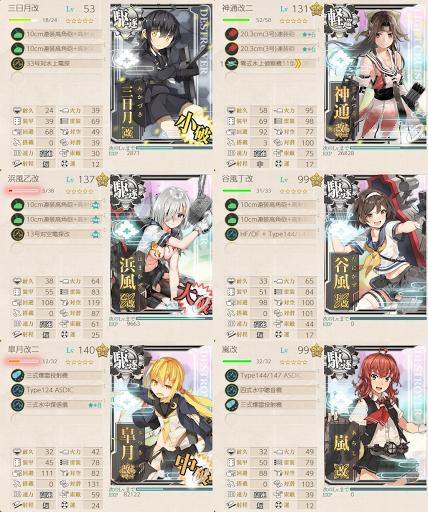 E5 Wギミック 第2艦隊