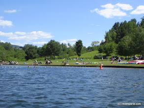 Photo: View from the water at Waterbury Center State Park