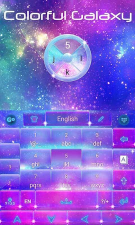 Colorful Galaxy Keyboard Theme 1.85.5.82 screenshot 189082