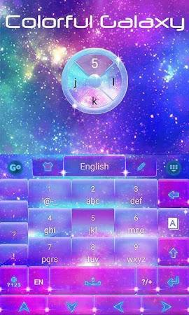 Colorful Galaxy Keyboard Theme 1.85.5.82 screenshot 189082