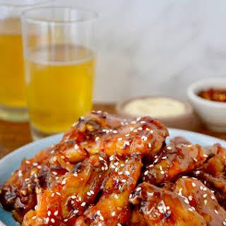 Crispy Baked Orange Chicken Wings.