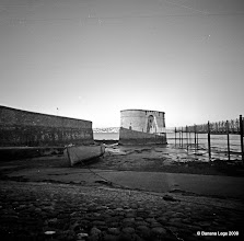 Photo: Martello tower Pembroke Dock. 37mm focal length 6x6 Fuji ACROSS 100