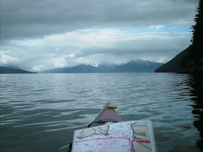 Photo: Looking north up Stephens Passage with Gastineau Channel entering on the far left.