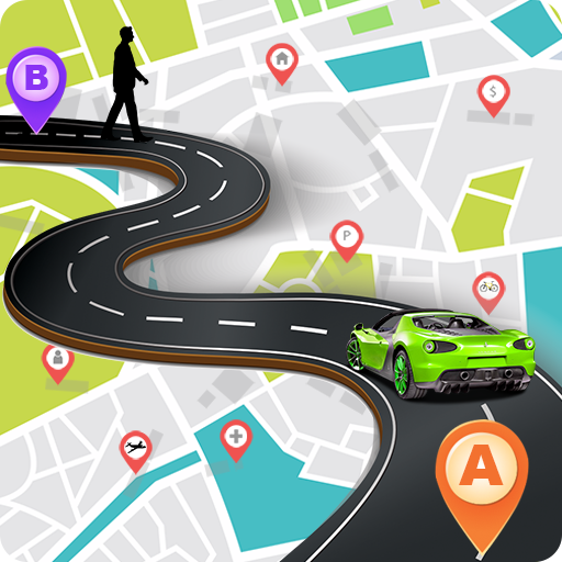 GPS Traffic Map Navigation & Route Finder