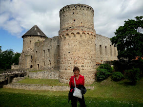 Photo: We set out for Estonia.  On the way we stopped at Cesis Castle in Latvia. It was built by the German crusaders in 1209.