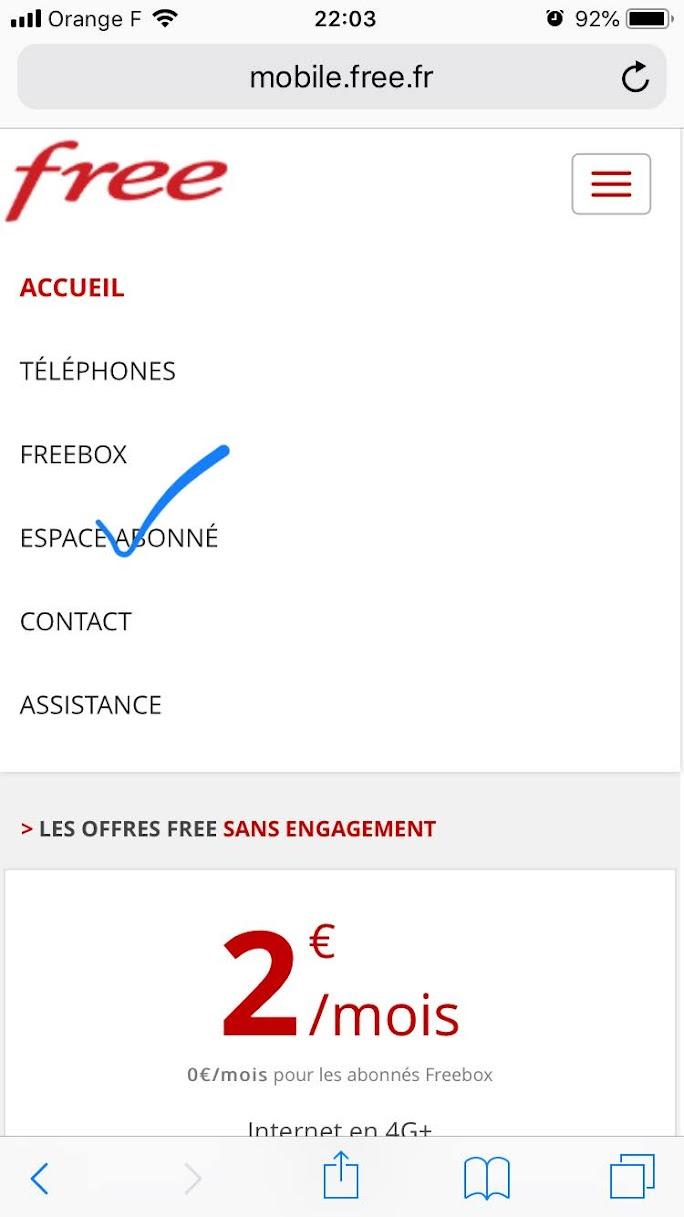 free mobile 支払い方法の変更 クレジットカード ESPACE ABONNE / 契約者ページ