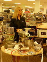 Photo: Gotta love the Kitchen Aid demo - the mixer and the new food processor.