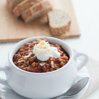 5-Minute Slow-Cooker Vegetarian Chili.