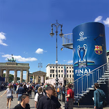 Photo: Veloform Media bboxx Turm Features as Info-Tower at the UEFA Champions League Final Fanfest 2015