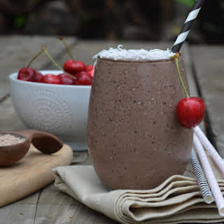 Chocolate Cherry Protein Shake.
