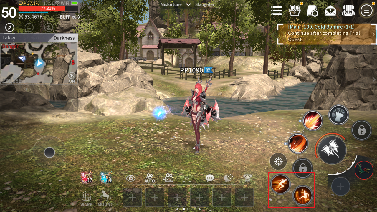 New UI! I wonder what those new action buttons on the lower right corner do? *wink wink*