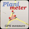 Planimeter - GPS area measure   land survey on map icon