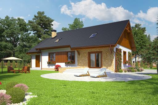 projekt Julek II z garażem 1-st. A