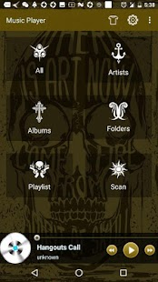Tattoo Theme For Free Music Player - náhled