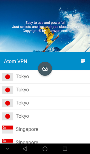 Atom VPN (100% free) 3.1.1 screenshots 1