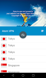 Atom VPN (100% free) 3.1.2 Mod APK Latest Version 1