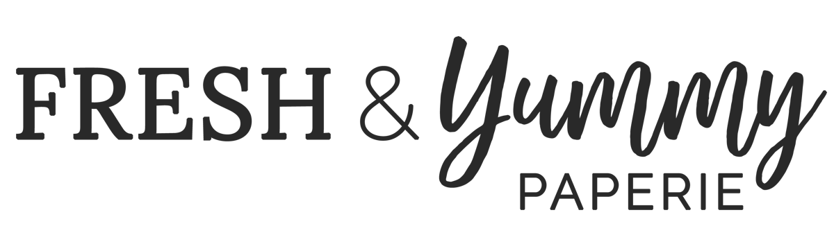 Fresh & Yummy Paperie Logo Charcoal