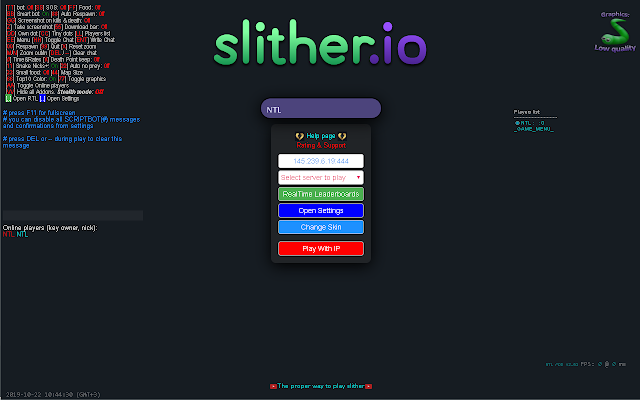NTL MOD: The fastest mod for Slither.io