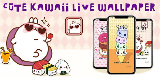 Cute Kawaii Food APUS Live Wallpaper