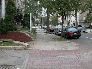 """Photo: September 2003 - Month 1: Sidewalk and alley - what a mess! We used to call this block the """"forgotten block of R Street""""."""