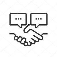 Icône de l'engagement client — Image vectorielle Howcolour ...