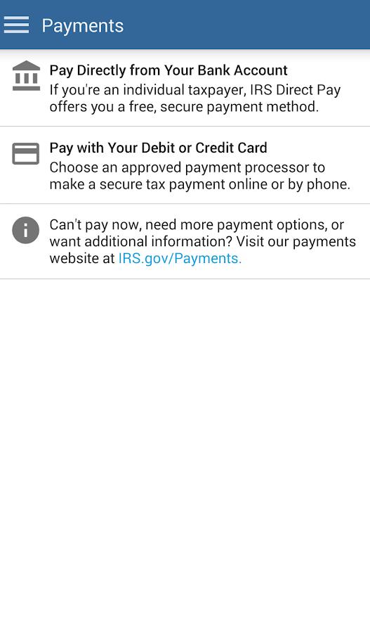 IRS2Go- screenshot